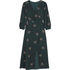 Madewell Botanic floral chiffon midi dress Sz 6
